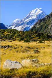 Michael Runkel - Mount Cook highest mountain in New Zealand, South Island