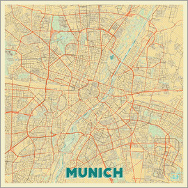 Hubert Roguski - Munich Map Retro