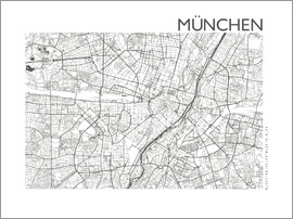 44spaces - MÜNCHEN MAP steelgrey