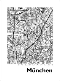 44spaces - MÜNCHEN STREET MAP HF