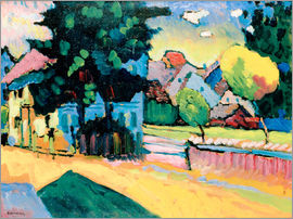 Wassily Kandinsky - Murnau - Landscape with green house