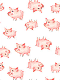 Kidz Collection - Pattern with cute piggy