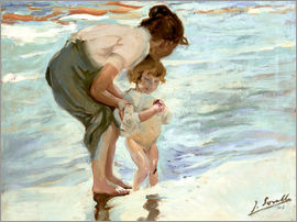Joaquin Sorolla y Bastida - Mother and child on the beach