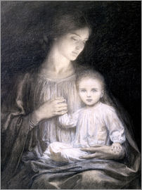 Sir Frank Dicksee - Mother and Child, c.1920