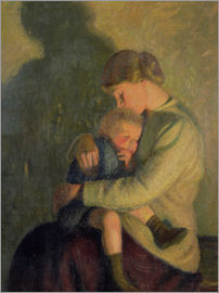 William Rothenstein - Mother and Child: Candlelight