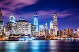 Night panorama of Manhattan in New York