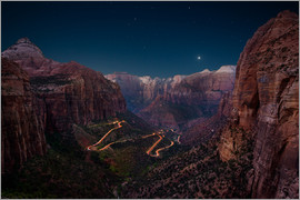 Markus Ulrich - Canyon Overlook at Night, Zion National Park, Utah, USA