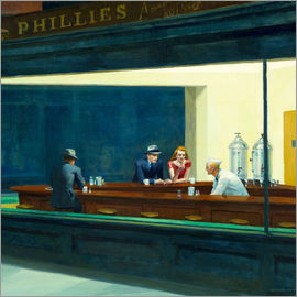 Edward Hopper - Nighthawks (Detail)
