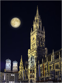 Night scene from Munich Town Hall