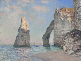Claude Monet - The rock face of Aval