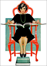 Clarence Coles Phillips - reading Nancy