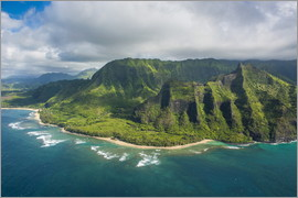 Michael Runkel - Aerial of the Napali coast, Kauai, Hawaii, United States of America, Pacific