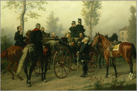Wilhelm Camphausen - Napoleon III and Bismarck after the Battle of Sedan