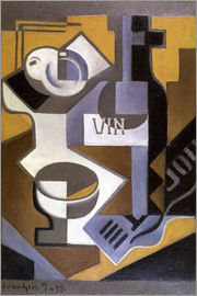 Juan Gris - Still Life with Wine Bottle