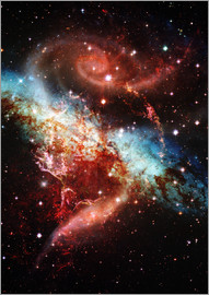 Nebula and star field in space