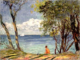 Emile Alfred Dezaunay - Beside the Water