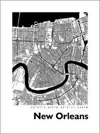 44spaces - New Orleans City Map PF 44spaces