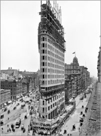 New York City 1903, Flatiron Building under construction