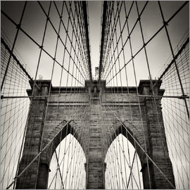 Alexander Voss - New York City - Pont de Brooklyn (argentique)