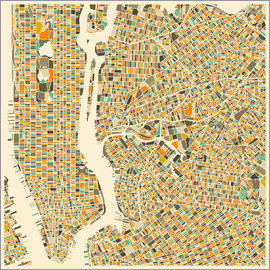 Jazzberry Blue - New York Map