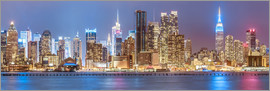 newfrontiers photography - New York City Neon Colors Skyline