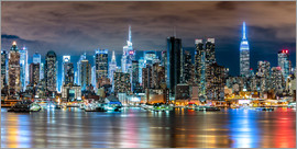 newfrontiers photography - New York, Midtown Skyline by Night