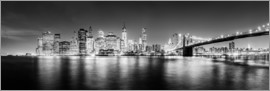 newfrontiers photography - New York City skyline by night (Monochrome)