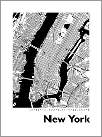 44spaces - New York City Map HF 44spaces
