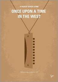 chungkong - No059 My once upon a time in the west minimal movie poster