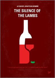 chungkong - No078 My Silence of the lamb minimal movie poster
