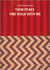 chungkong - No169 My Fire walk with me minimal movie poster