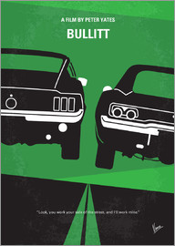chungkong - No214 My BULLITT minimal movie poster