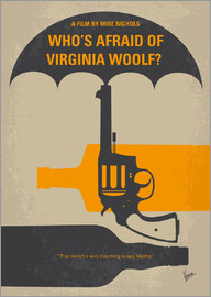 chungkong - No426 My Whos Afraid of Virginia Woolf minimal movie poster
