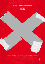chungkong - No495 My RED minimal movie poster