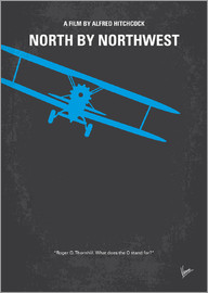 chungkong - No535 My North by Northwest minimal movie poster