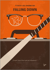 chungkong - No768 My Falling Down minimal movie poster