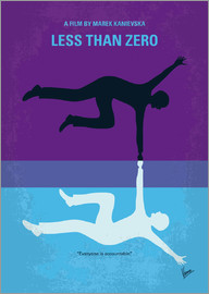 chungkong - No848 My Less Than Zero minimal movie poster