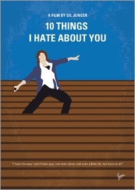 chungkong - No850 My 10 Things I Hate About You minimal movie poster