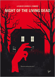 chungkong - No935 My Night of the Living Dead minimal movie poster