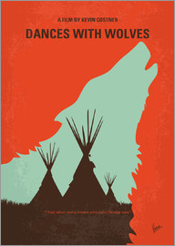 chungkong - No949 My Dances with Wolves minimal movie poster