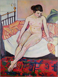 Marie Clementine Valadon - Nude with a Striped Blanket