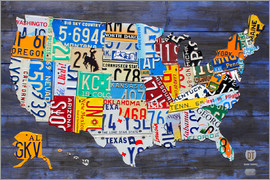 Design Turnpike - License plate map of the USA