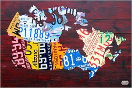 Design Turnpike - License Plate Map of Canada