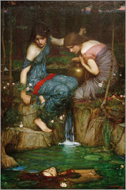 John William Waterhouse - Nymphs Finding the Head of Orpheus