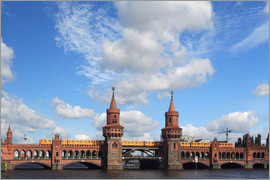 Frank Herrmann - Upper tree bridge in Berlin by metro and TV Tower - typical Berlin