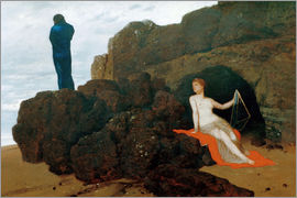 Arnold Böcklin - Odysseus and Kalypso