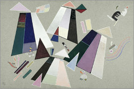 Wassily Kandinsky - Untitled (Composition with Grey Background)