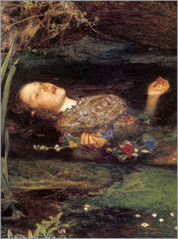 Sir John Everett Millais - Ophelia, detail