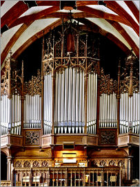 imageBROKER - Organ in St. Thomas Church, Leipzig music trail