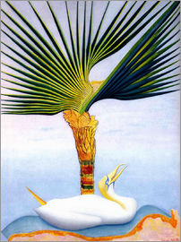 Joseph Stella - palm tree and bird